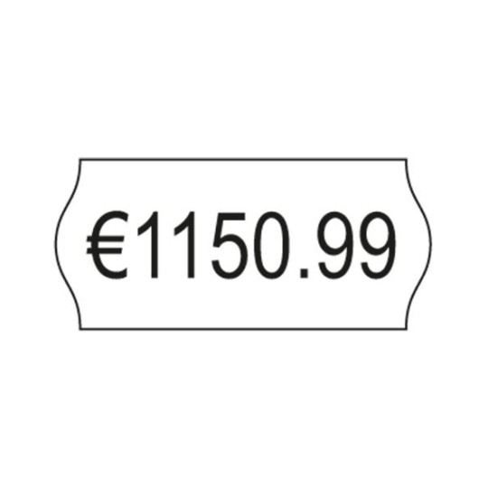 PB-Onlinehandel 1.200 Loch-Etiketten 21,6x12 mm wei/ß ABL/ÖSBAR 1 Rolle